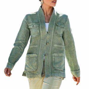 Marrakech Anthropologie Albertine Linen Jacket M